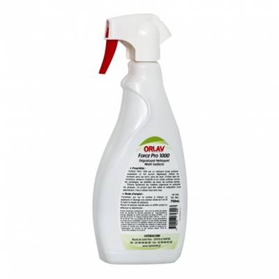 Super dégraissant multisurfaces FORCE PRO 1000 - ORLAV - Spray 750ml